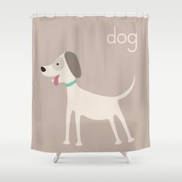 D for Dog Shower Curtain