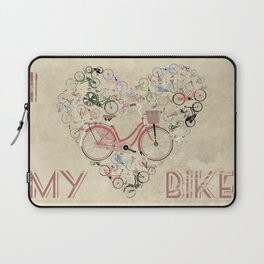 I Love My Bike Laptop Sleeve