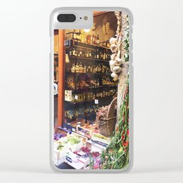 Florence Wine Shop #Photography #Italy #Firenze #Florence Clear iPhone Case