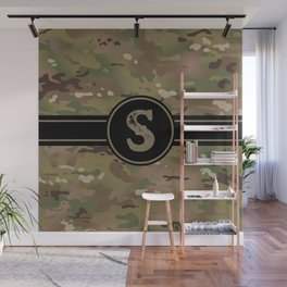 Camouflage Monogram: Letter S Wall Mural