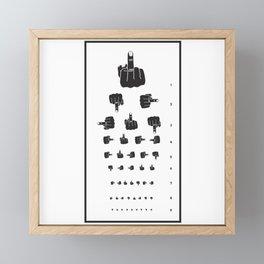MIDDLE FINGER VISION TEST Framed Mini Art Print