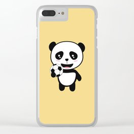 Soccer Panda with ball T-Shirt for all Ages Dkbjf Clear iPhone Case