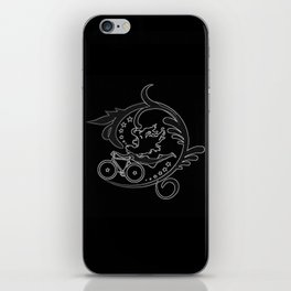 Star Girl Bike Swirl Black iPhone Skin