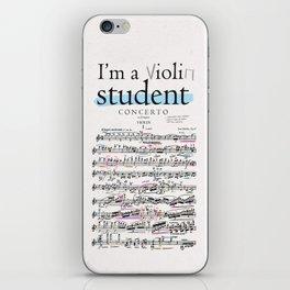 Violin student iPhone Skin