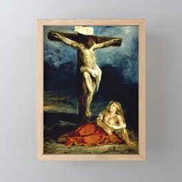Eugene Delacroix - Saint Mary Magdalene At The Foot Of The Cross - Digital Remastered Edition Framed Mini Art Print