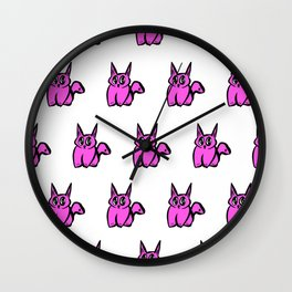 The Pink Pussy Cat Parade Wall Clock