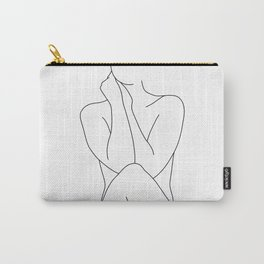 Nude figure line drawing illustration - Georgia Carry-All Pouch