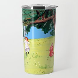The little house on the prairie with Ingalls sisters Travel Mug