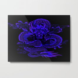Epic Dragon Blue Metal Print