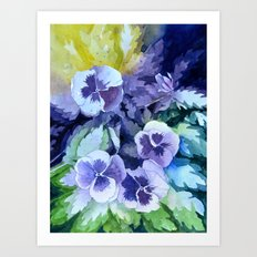 Pansies Crush  Art Print