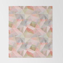 Broken glass in warm colors. Throw Blanket