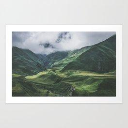 Caucasus Mountans, Kazbegi, Georgia Art Print