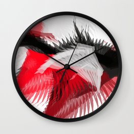 flying abstract digital painting Wall Clock