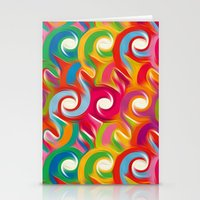 ikat Stationery Cards featuring Ikat by Helene Michau