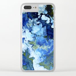 Abstract Nature Acrylic Pour Clear iPhone Case