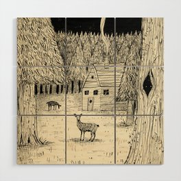 'In The Clearing' Wood Wall Art