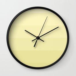 Six shades of yellow. Wall Clock