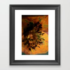 Earth Tones Flower Love Framed Art Print