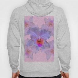 TROPICAL LILAC CATTLEYA ORCHID FLOWERS PINK ART Hoody