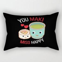 You Maki Miso Happy Japan Rectangular Pillow