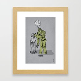 Sculpture is for Humans Framed Art Print