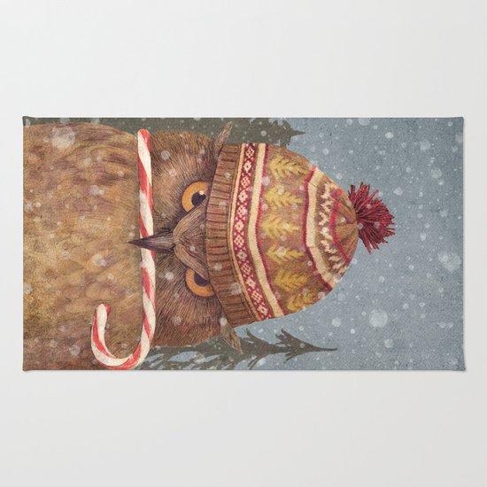 Christmas Owl  Rug