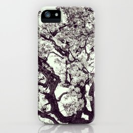 White Tree Blossom iPhone Case