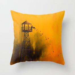 Autumn Tower Throw Pillow