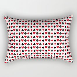 Playing Cards Pattern Rectangular Pillow