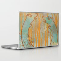 foxes Laptop & iPad Skins featuring Foxes by Ariel Wilson