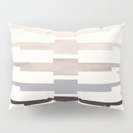 Mid Century Minimalist Ancient Aztec Inca Geometric Pattern Watercolor Grey Colorful Gouache Paintin Pillow Sham