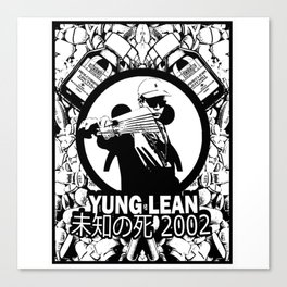 Yung Lean - Stackin it Canvas Print