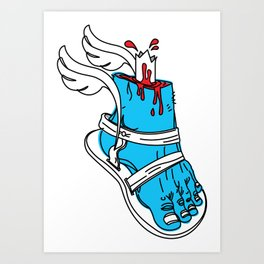 Holy Feet!_by LelosLovesYou Art Print
