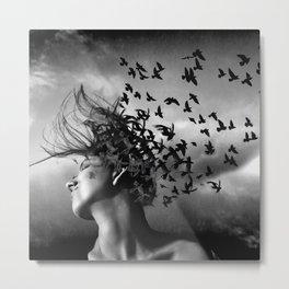 Flock of Crows Metal Print
