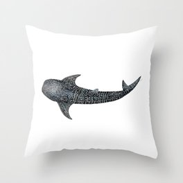 Whale shark Rhincodon typus Throw Pillow