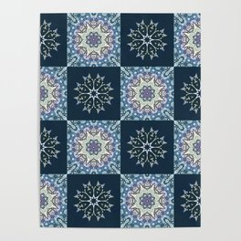 handdrawn abstract winter pattern Poster