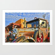 Old Trucks Never Die Art Print