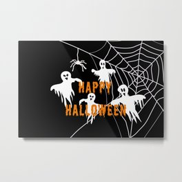 Monsters Happy Halloween Metal Print