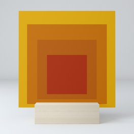Block Colors - Yellow Orange Red Mini Art Print