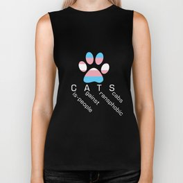Cis-people Against Transphobia (CATS v2) Biker Tank