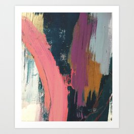 Anywhere: a bold, colorful abstract piece Art Print