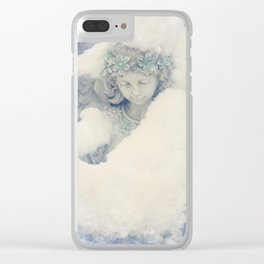 Icy Daydreams Clear iPhone Case