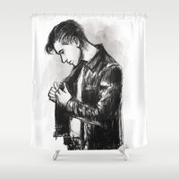 alex turner Shower Curtains featuring alex turner [5] by roanne Q