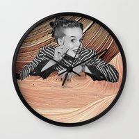 desert Wall Clocks featuring Desert by Mrs Araneae