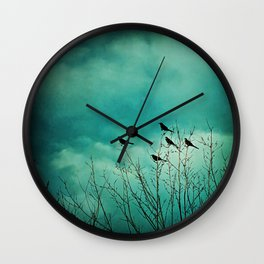 Like Birds on Trees Wall Clock