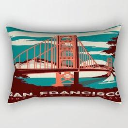 vintage poster san francisco Rectangular Pillow
