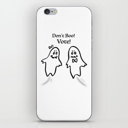 Don't Boo! Vote! iPhone Skin