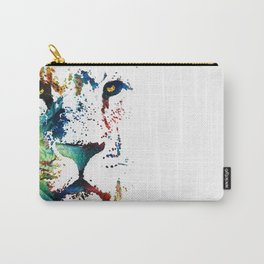 Colorful Lion Art By Sharon Cummings Carry-All Pouch