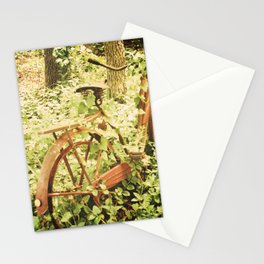Ole Rusty Bicycle Abandoned Urban Exploration Urbex Taken Over by Nature  Stationery Cards