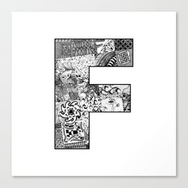 Cutout Letter F Canvas Print
